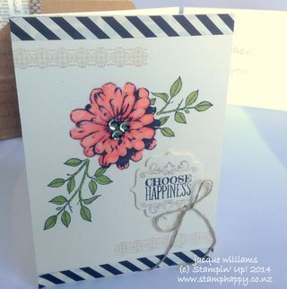 Stampin up choose happiness blendabilities vintage