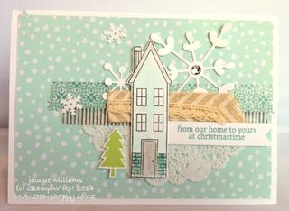 Stampin up holiday home christmas card pop up easy