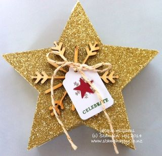Stampin up many merry stars kit easy