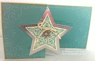 Stampin up bright and beautiful tri fold christmas card