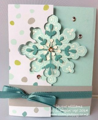 Stampin up snowflake thinlit die letterpress winter