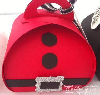 Stampin up curvy box santa punch art