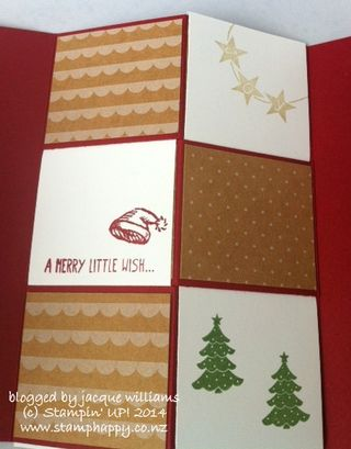 Stampin up get your santa on vellum emboss blendabilities