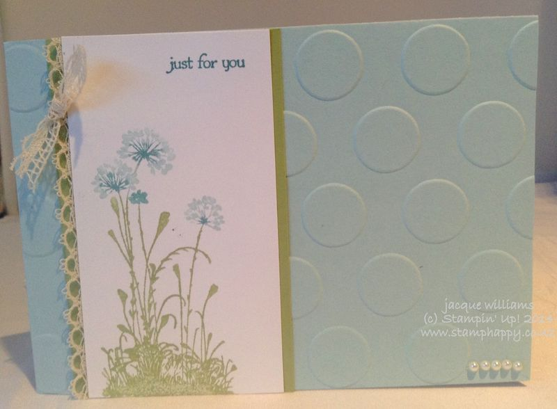 Stampin up serene silhouettes soft sky venetian lace