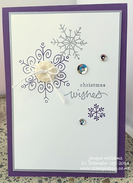Stampin up endless wishes in Elegant Eggplant