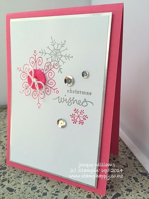Stampin up endless wishes in Strawberry slush