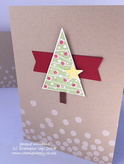 Stampin up festival of trees cherry cobbler quick easy christmas