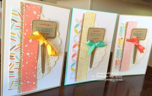 Stampin up from the garden best year ever calypso coral burlap