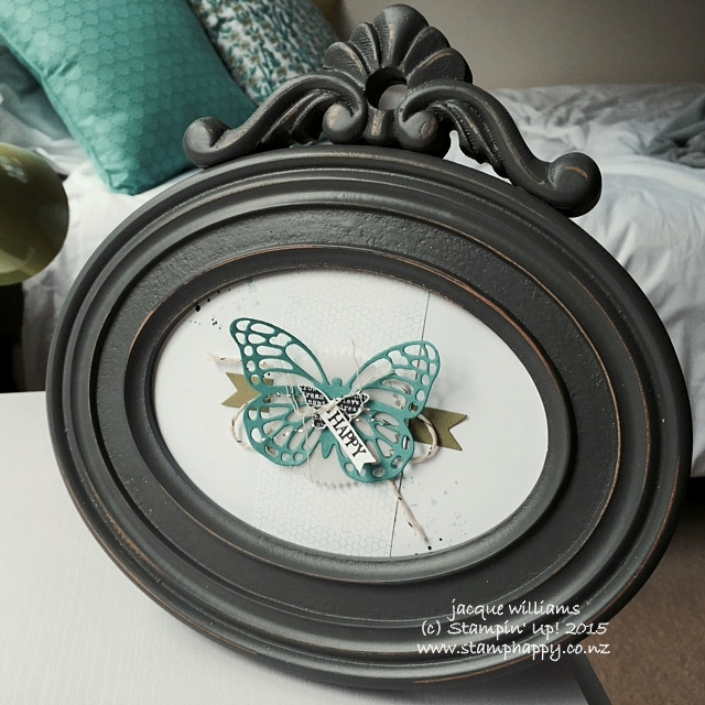 Stampin up butterfly basics home decor