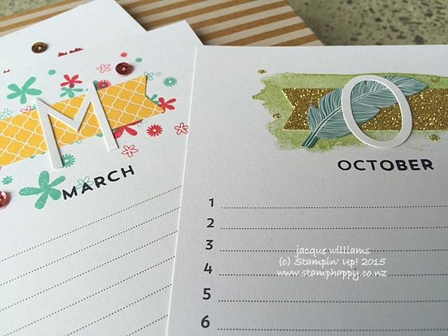 Stampin up perpetual calendar kit