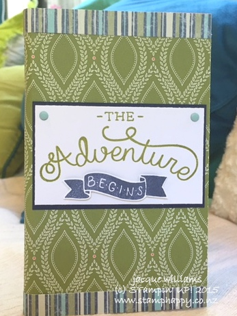 Stampin up altered notebook bermuda bay old olive adventure awaits