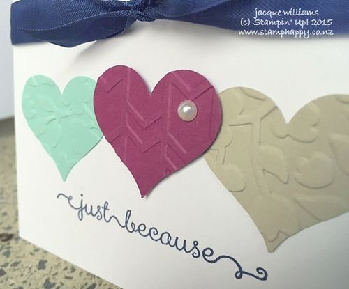 Stampin up quick easy love valentine rich razzleberry make and take