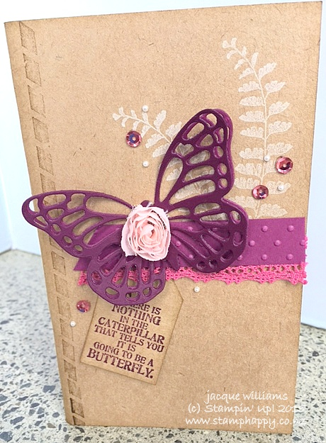Stampin up butterfly basics notebook altered vintage