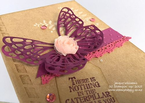 Stampin up butterfly basics altered vintage notebook blackberry bliss