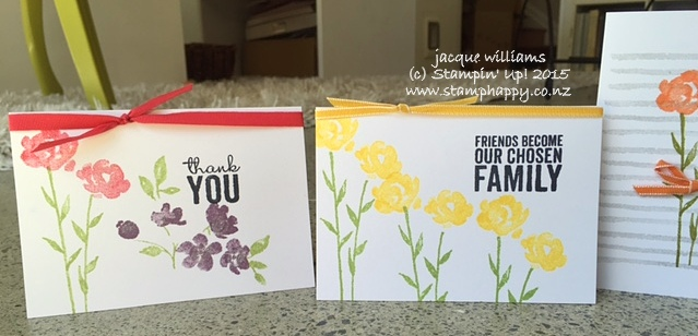 Stampin up painted petals quick easy